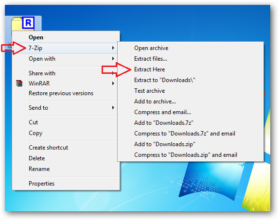 Extract a 7-zip file