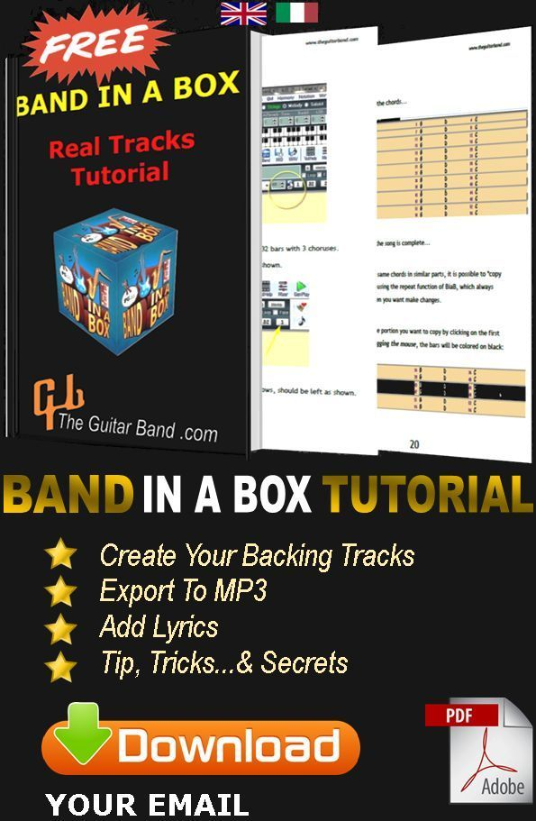 THEGUITARBAND COM – BAND IN A BOX BACKING TRACKS